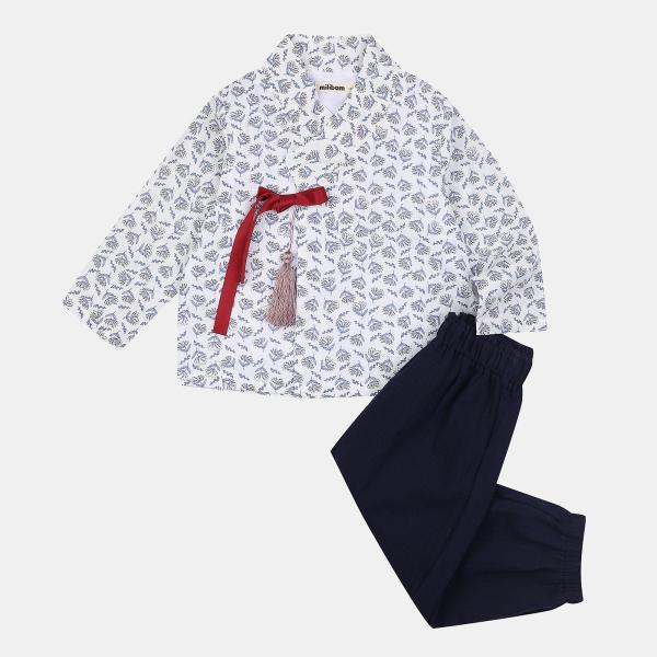 [보리보리] 밀리밤 [밀리밤 해운대점] 페 2셋트 남아 한복 MLMS21A70  봄 가을 간절기 남아 한복 바지 따로 입을수 있어요