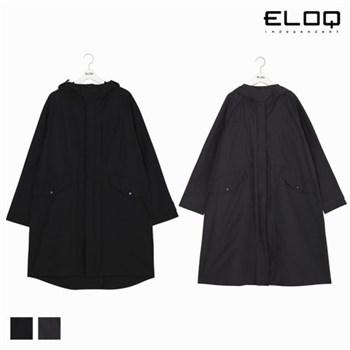 [ELOQ]공용 루즈핏 절개 포인트 롱 후드 점퍼(B176MCT101U)