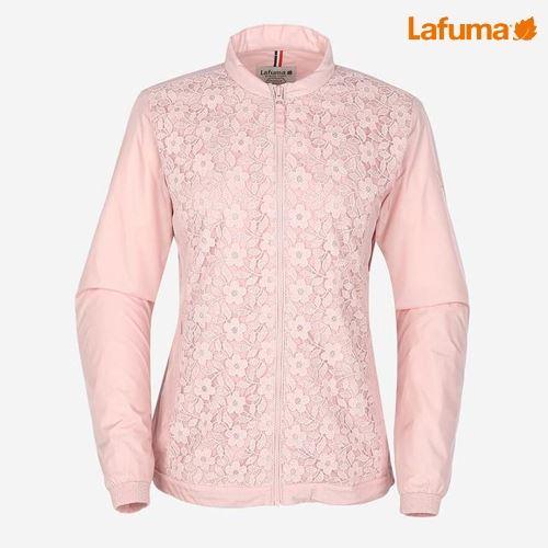 [NEW!]라푸마 여성 라이트핑크 WIND-TECH 플라워 자수 배색 자켓 LFJA7A224P1