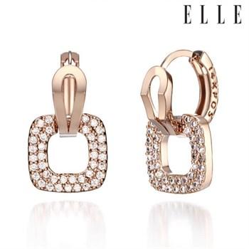 14K 스퀘어 큐빅 원터치 귀걸이 (gold pin) ELGPEE196
