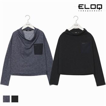 [ELOQ]여성 포켓 포인트 변형 터틀넥 티셔츠(B172MTS152W)