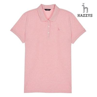 [1DAY★특가]여성 핑크 면혼방 반팔카라티셔츠