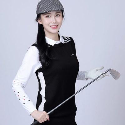 김영주 포넌 울 여성골프 니트조끼