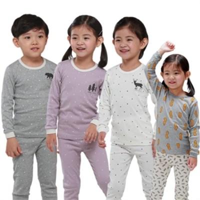 [국내생산 긴팔내의!170까지]유아 아동 주니어/내의/내복/잠옷/실내복